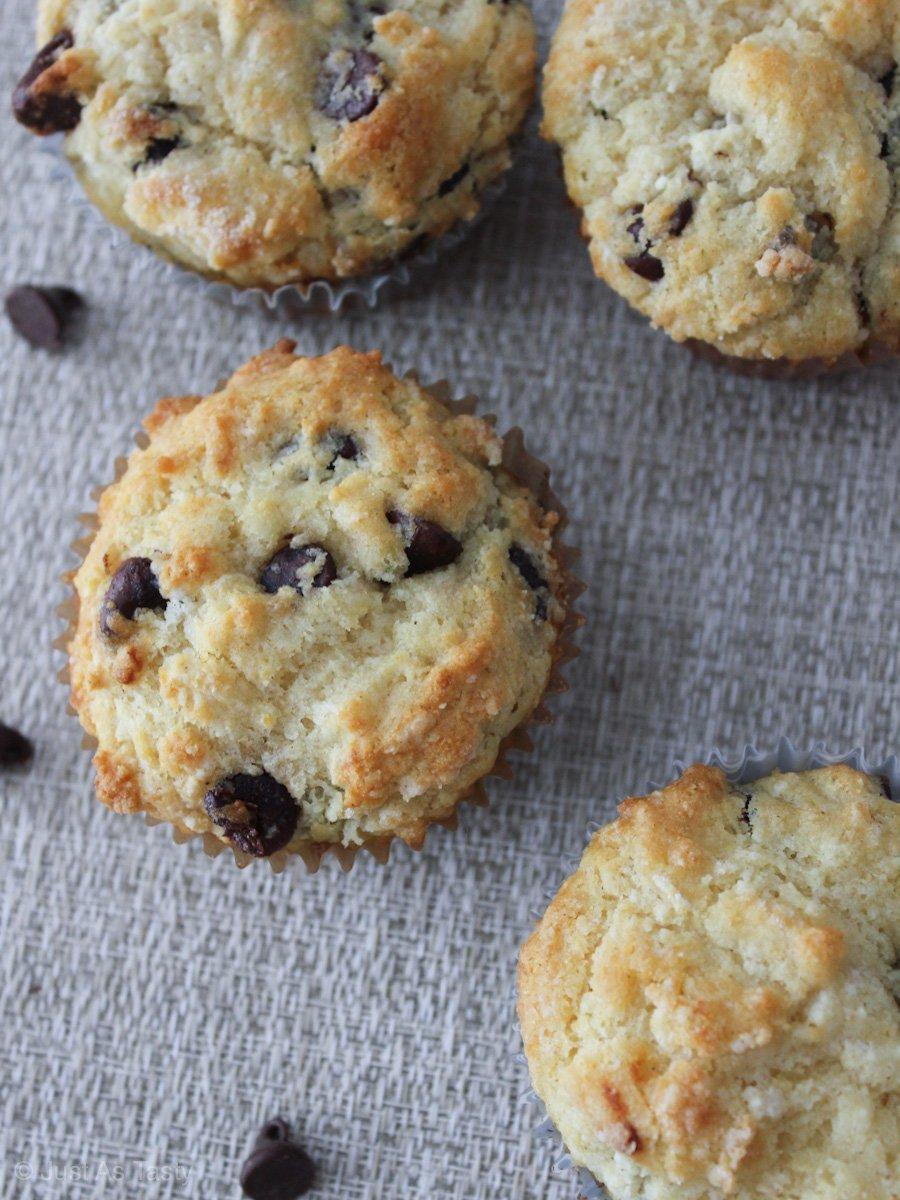 Gluten free chocolate chip muffins.