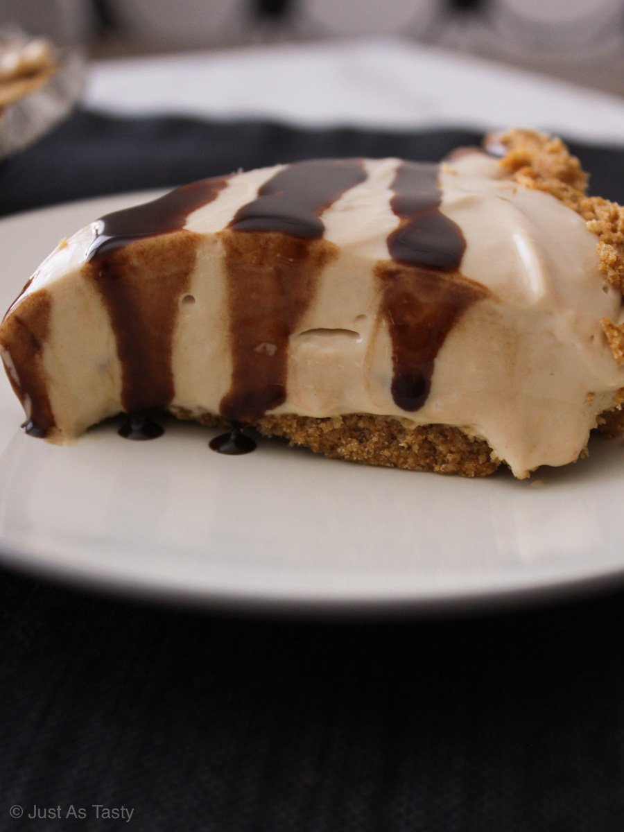Side view of cheesecake slice
