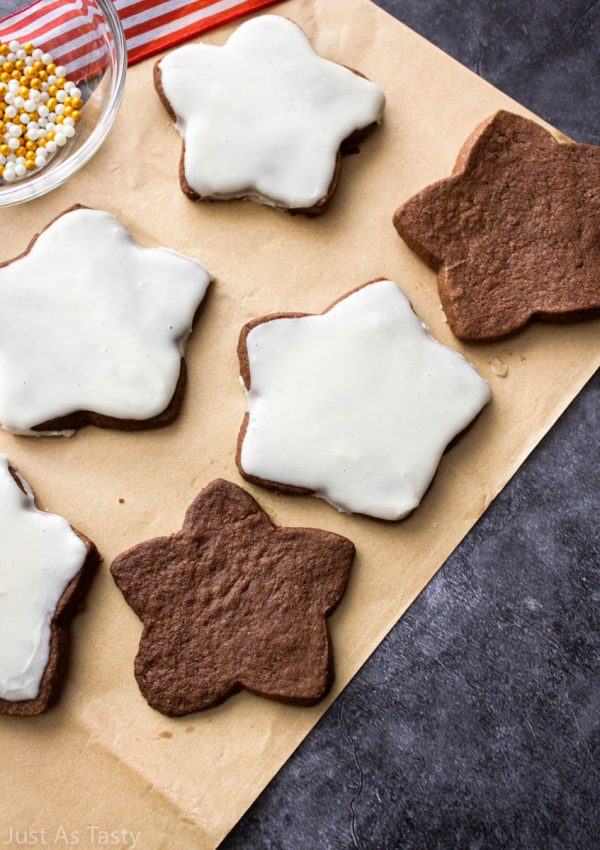 Chocolate Sugar Cookies – Gluten Free, Eggless