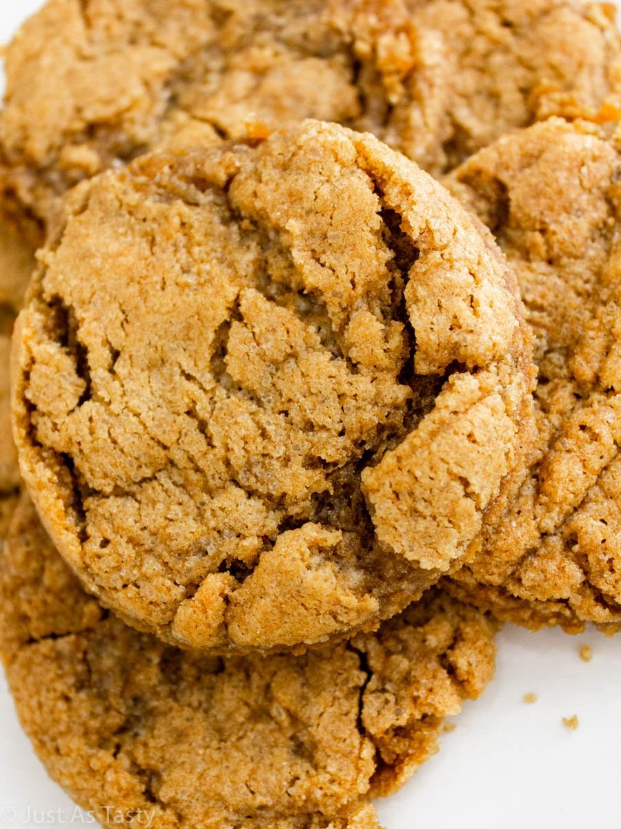 Close-up of chewy cookies.