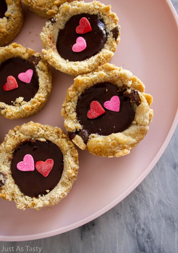 Chocolate Chip Cookie Cups – Gluten Free, Eggless