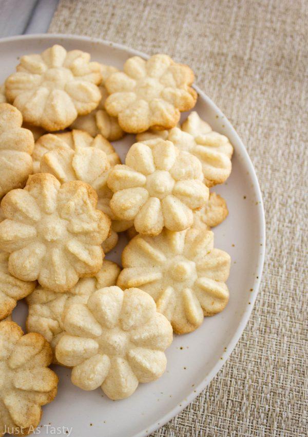 Buttery Spritz Cookies – Gluten Free, Eggless