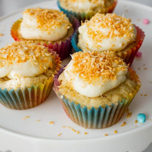 Coconut Cream Cupcakes – Gluten Free, Eggless
