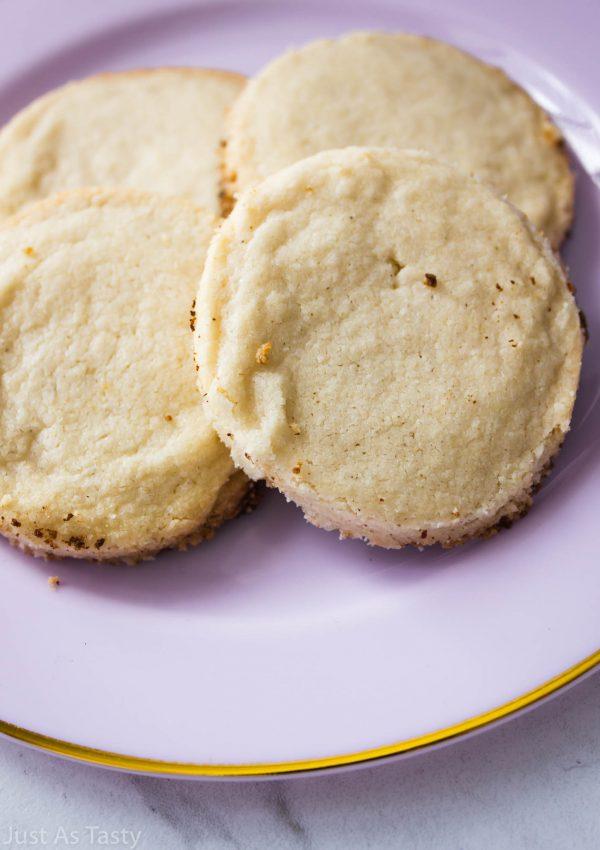 Lavender Shortbread Cookies – Gluten Free, Eggless