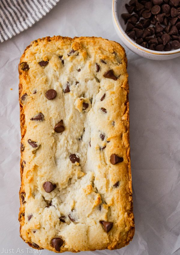 Chocolate Chip Pound Cake – Gluten Free, Eggless