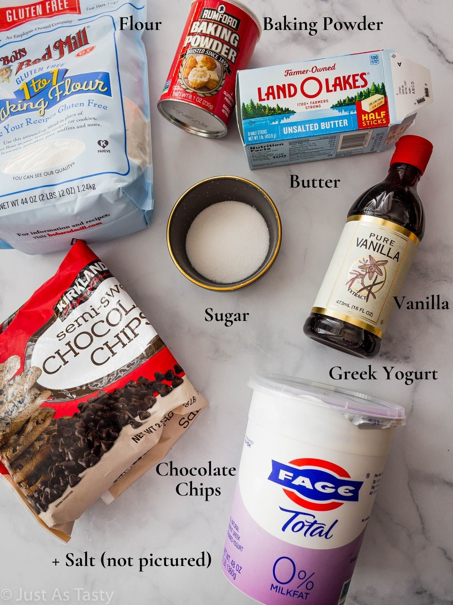 Ingredients for cake.