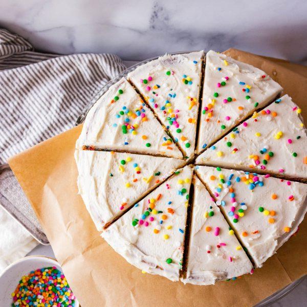 Funfetti Cake – Gluten Free, Eggless