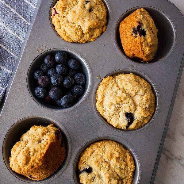 Jumbo Blueberry Muffins – Gluten Free, Eggless