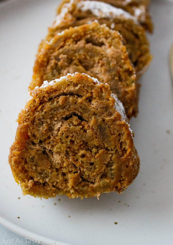 Mocha Roll Cake – Gluten Free, Eggless