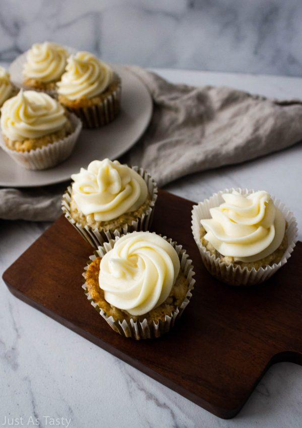 Banana Cupcakes – Gluten Free, Eggless