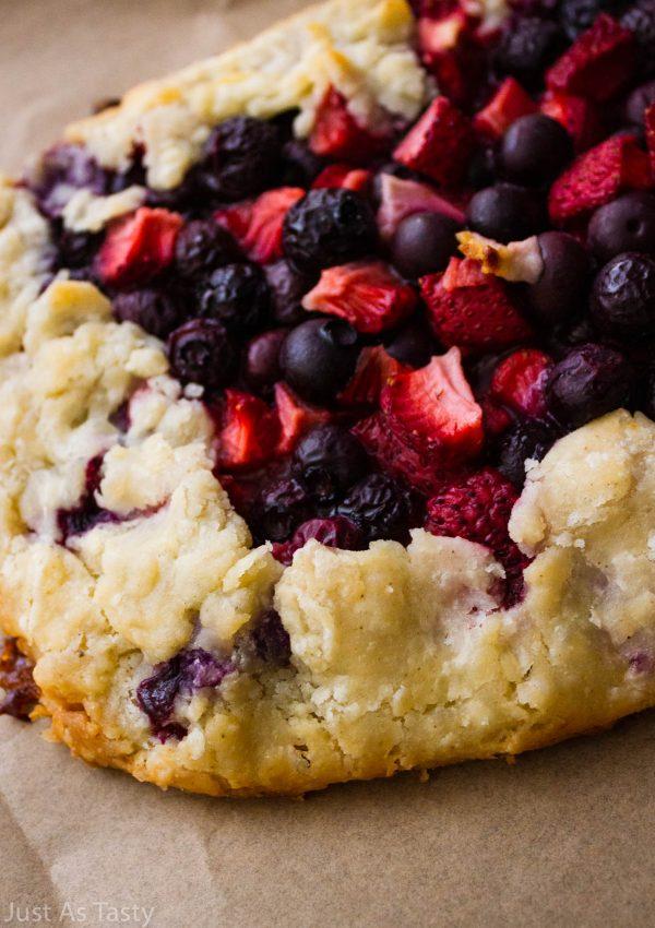 Berry Galette – Gluten Free, Eggless