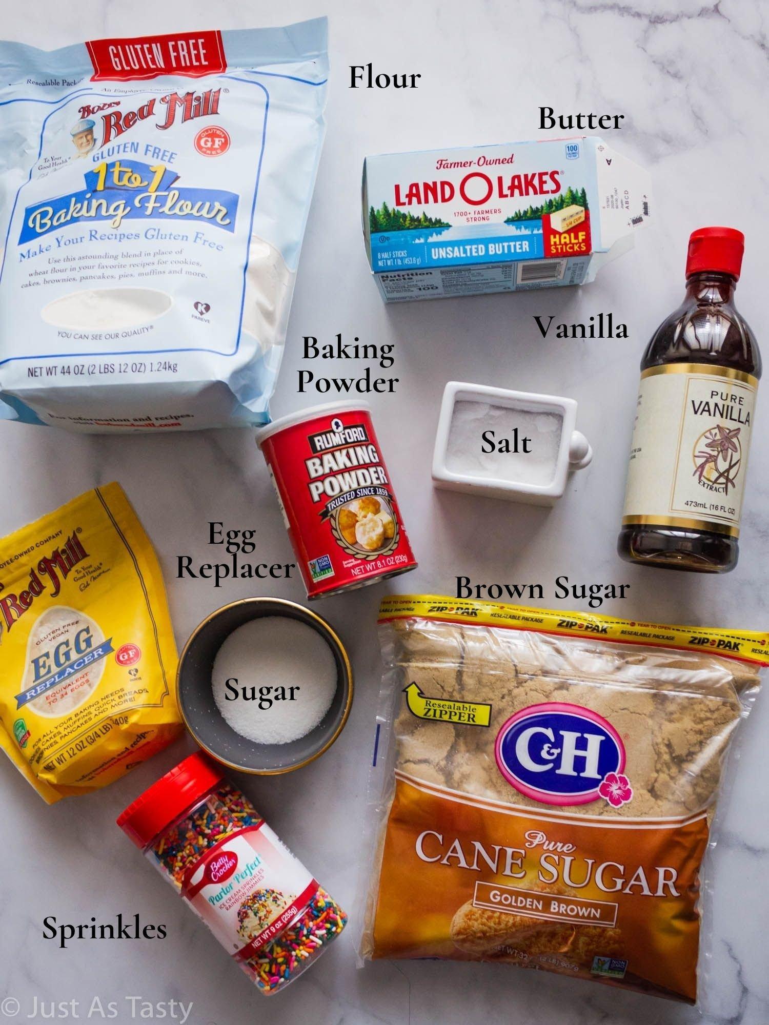 Birthday cake cookie ingredients