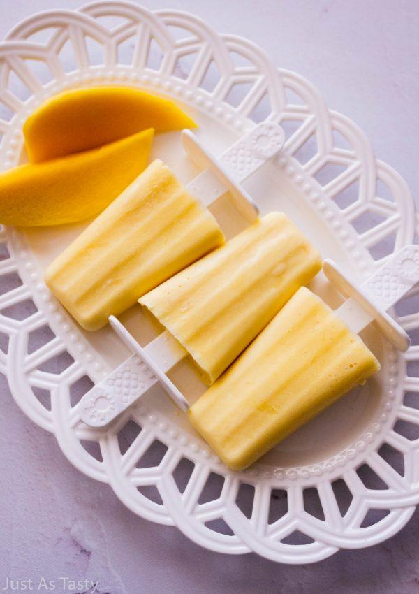 Mango Creamsicles – Gluten Free, Eggless
