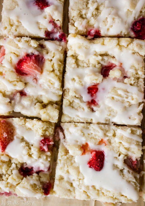 Strawberry Lemonade Bars – Gluten Free, Eggless