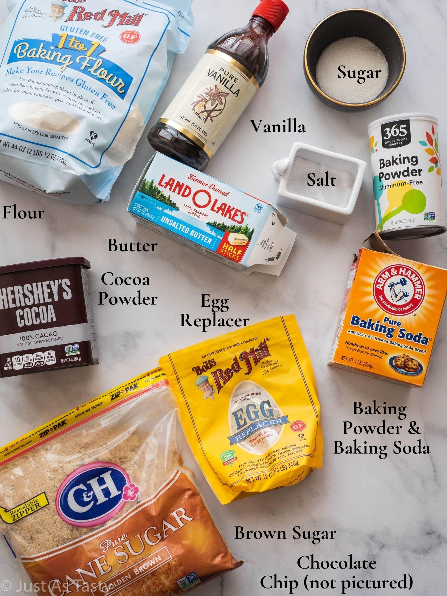Ingredients for brookies.