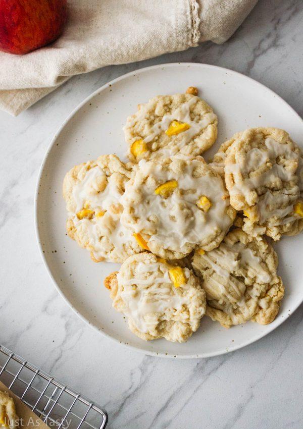Peach Cobbler Cookies – Gluten Free, Eggless