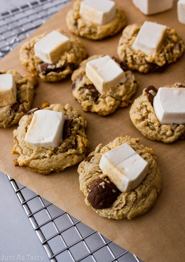 S'mores Cookies – Gluten Free, Eggless